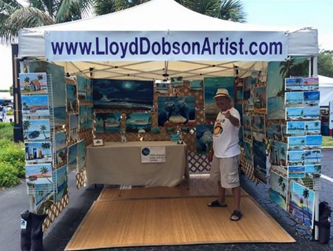 Lloyd Dobson Artist at the Siesta Key Farmers Market